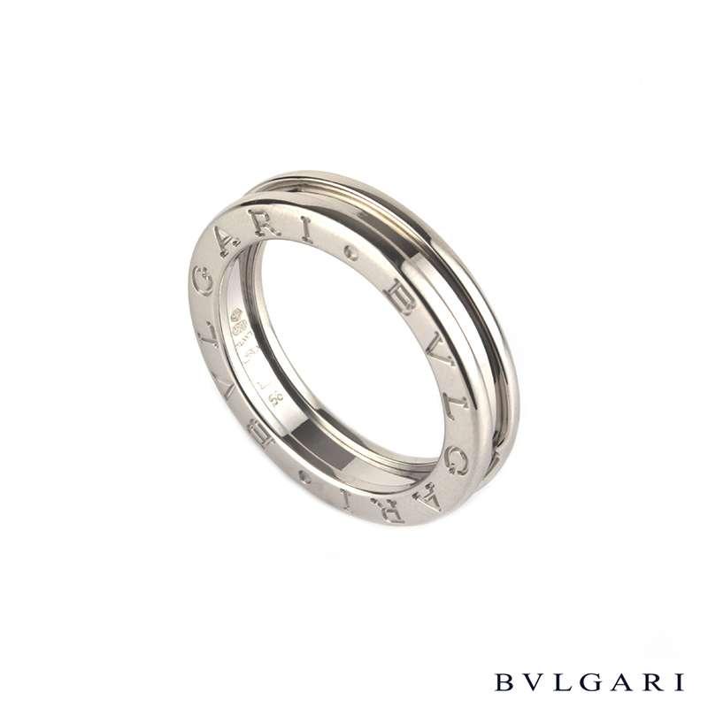 bvlgari 18k white gold b zero1 ring size 52 m an852423